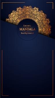 Luksusowy mandali niebieskie tło