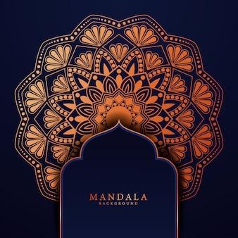 Luksusowy mandali tło dla okładki książki zaproszenia ślubne