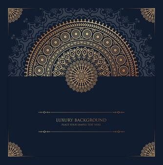 Luksusowy mandali tło islamskie