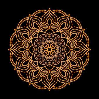 Luksusowy mandali tło w złotym stylu arabeska
