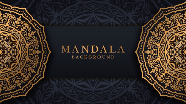 Luksusowy mandali tło z nowoczesną arabeską