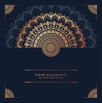 Luksusowy mandali tło z złotym arabesku wzorem arabskim islamskim wschodu stylem