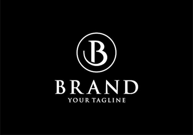 Luksusowy monogram b lub inicjał dla szablonu inspiracji projektu logo b