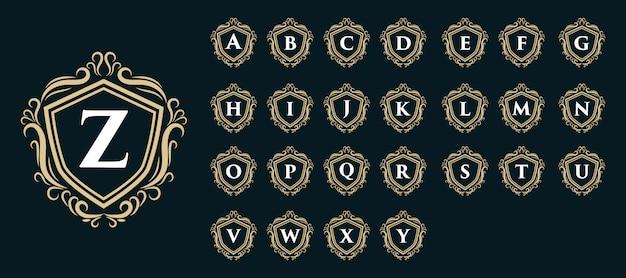 Luksusowy monogram royal vintage luksusowe logo z inicjałem
