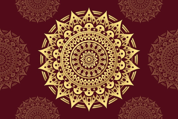 Luksusowy motyw tapety mandali