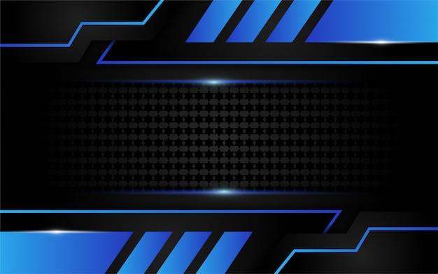 Luksusowy niebieskie światło na ciemnym tle