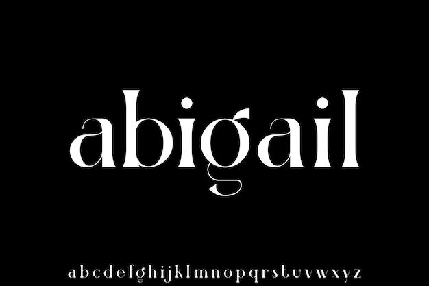 Luksusowy nowoczesny zestaw alfabetyczny małymi literami