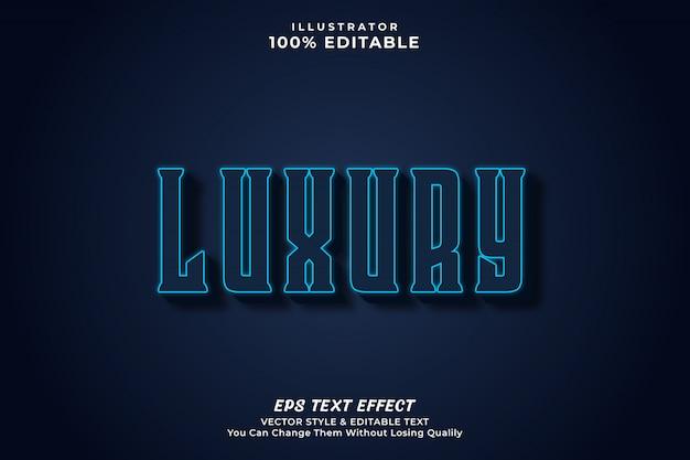 Luksusowy, odważny edytowalny styl efektu tekstu