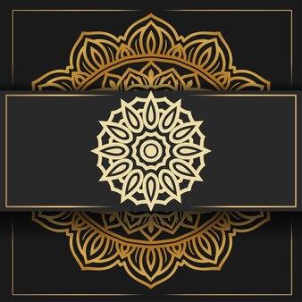 Luksusowy okrągły wzór mandali w tle