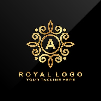 Luksusowy ornament logo z literą a