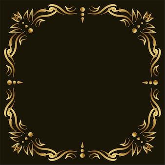 Luksusowy ornament lub kwiatowy wzór tła ramki.