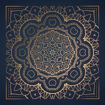 Luksusowy ornament mandala ozdobnych ilustracji