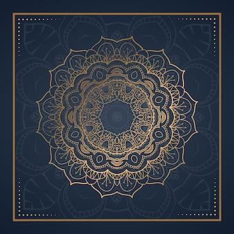 Luksusowy ornament mandala pocztówka
