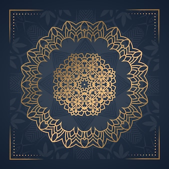 Luksusowy ornament mandali tło na zaproszenie