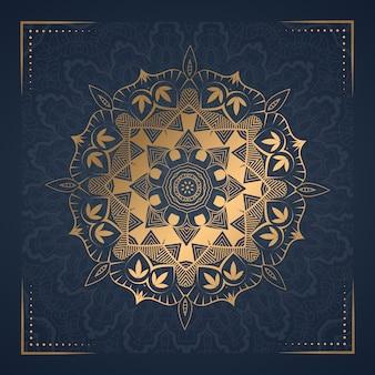 Luksusowy ornament mandali tło