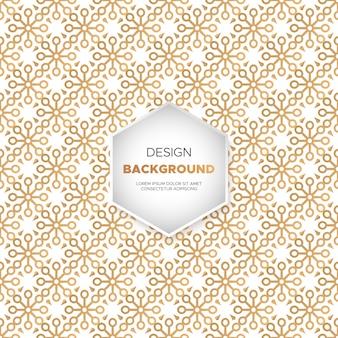 Luksusowy ornamentacyjny mandala tło w złocistym kolorze