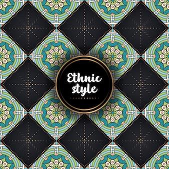 Luksusowy ornamentacyjny tło projekt