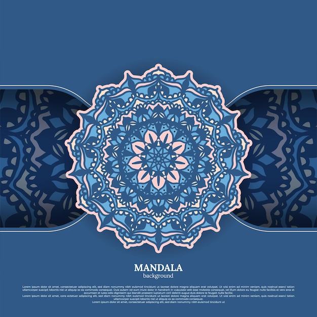 Luksusowy ozdobny kolorowy wzór mandali