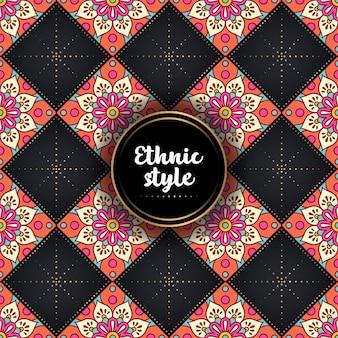 Luksusowy ozdobny wzór etniczny