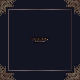 Luksusowy ozdobny wzór mandali ze złotym tłem ramki arabski islamski styl wschodu