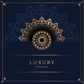 Luksusowy ozdobny wzór tła mandala w złotym kolorze darmowych wektorów