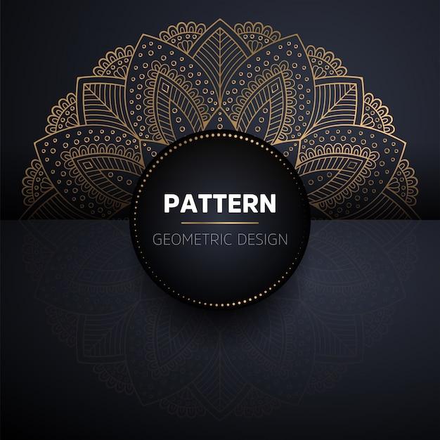 Luksusowy ozdobny złoty mandali wzór