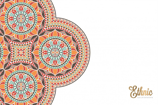 Luksusowy ozdobnych mandali projekt tło w kolorze złota wektor