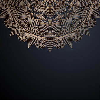 Luksusowy ozdobnych mandali projekt tło