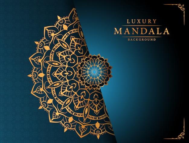 Luksusowy ozdobnych mandali tło z arabskiej dekoracji