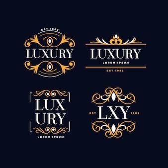 Luksusowy pakiet logo retro