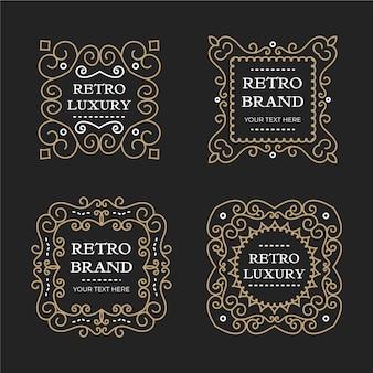 Luksusowy pakiet szablonów logo retro