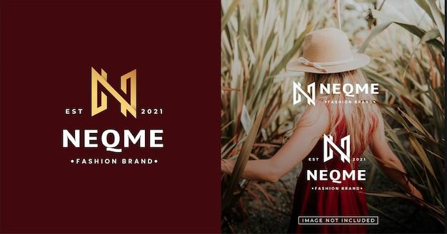 Luksusowy początkowy szablon projektu logo nn