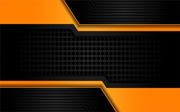 Luksusowy pomarańczowy światło na ciemnym tle