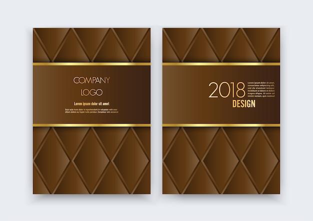 Luksusowy projekt broszury premium.