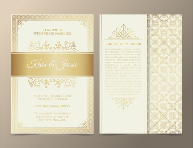 Luksusowy projekt karty zaproszenie w stylu vintage