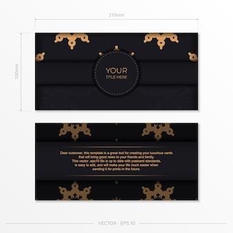 Luksusowy projekt karty zaproszenie z abstrakcyjnym ornamentem vintage. może służyć jako tło i tapeta. eleganckie i klasyczne elementy wektorowe świetnie nadają się do dekoracji.