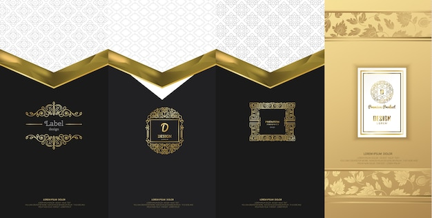 Luksusowy projekt logo do pakowania