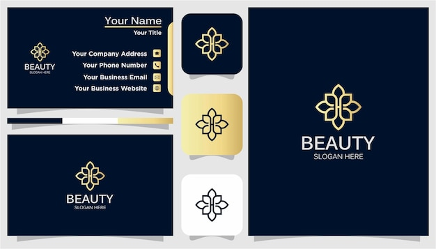 Luksusowy projekt logo i wizytówki