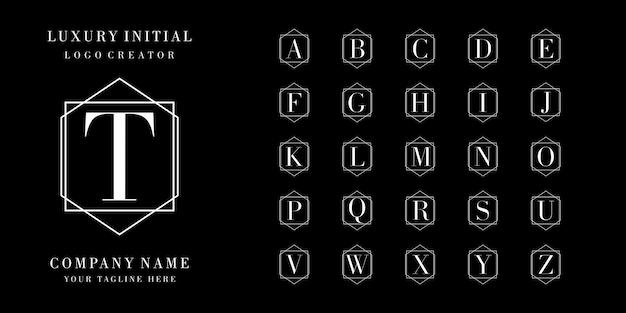 Luksusowy projekt logo początkowej odznaki