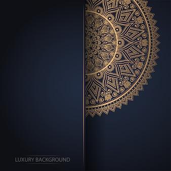 Luksusowy projekt mandali ozdobnych