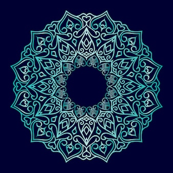 Luksusowy projekt ornamentu mandali