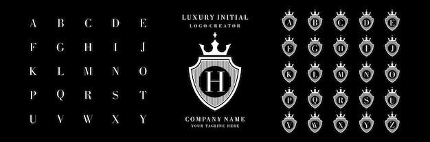 Luksusowy projekt początkowej kolekcji logo