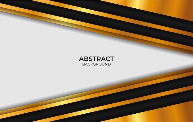 Luksusowy projekt streszczenie białe i złote