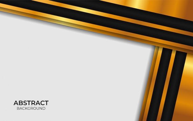 Luksusowy projekt streszczenie biały i złoty
