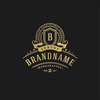 Luksusowy projekt szablonu logo ilustracji wektorowych.