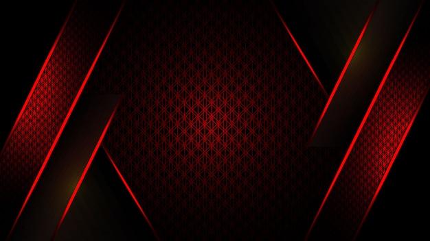 Luksusowy projekt szablonu streszczenie tło czerwone i ciemne