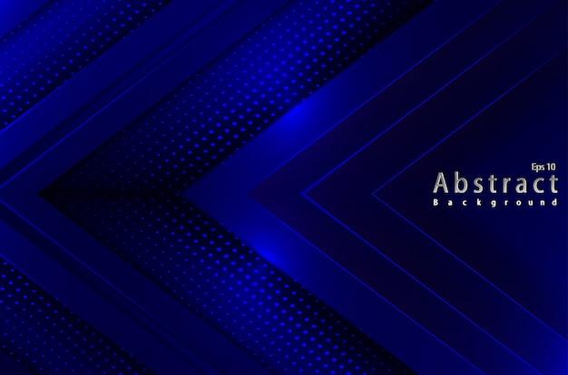 Luksusowy streszczenie niebieskim tle światła z półtonów dekoracji papercut