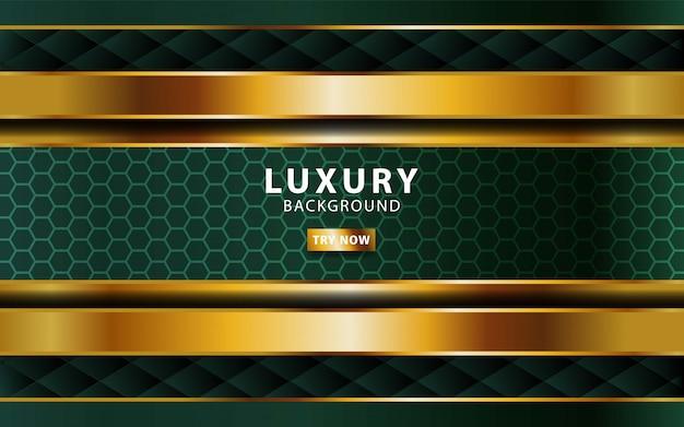 Luksusowy streszczenie premium zielone tło z linii złota