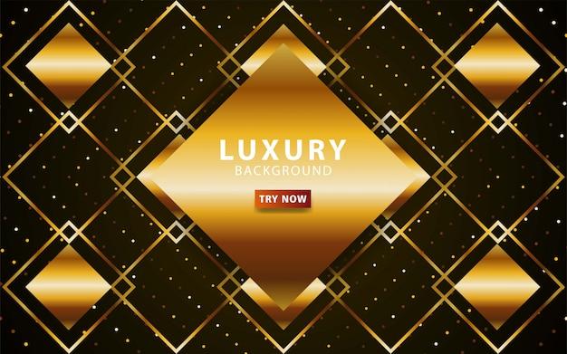 Luksusowy streszczenie premium złote tło z linii złota