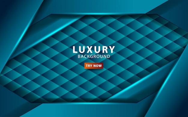 Luksusowy streszczenie technologia niebieskie tło z niebieską linią. nakładanie warstw z efektem papieru. szablon cyfrowy. realistyczny efekt świetlny na teksturowanym tle sześciokąta. .